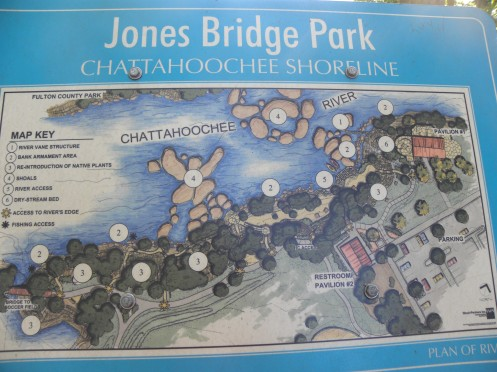 """Jones Bridge Park/Chattahoochee River"""